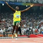 Bolt Snags Olympic Double at world record pace