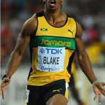 Blake wins world 100m title