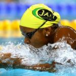 Alia Atkinson finishes 4th in 100 metre breaststroke